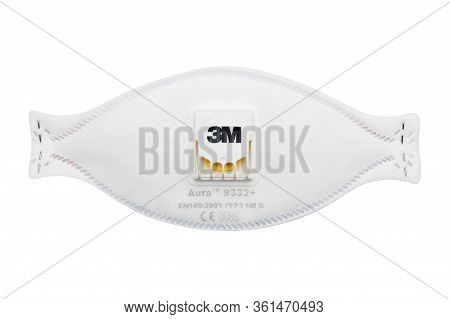 Gdynia, Poland - April 15, 2020: Face Shield, Half Mask, Disposable Respirator P3, Ffp3, N99 - 3m Au