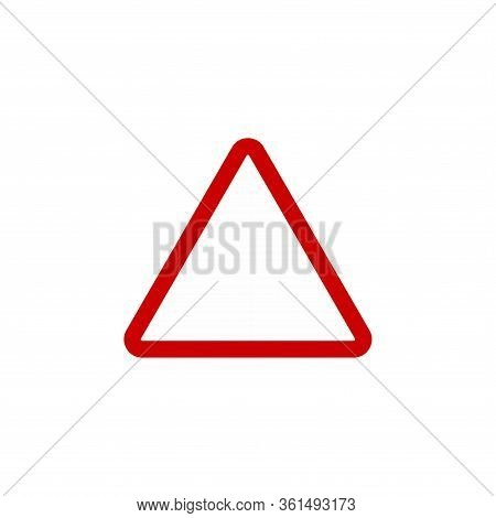 Warning Caution Sign, Red Triangle. Stock Vector Illustration Isolated On White Background.red Trian