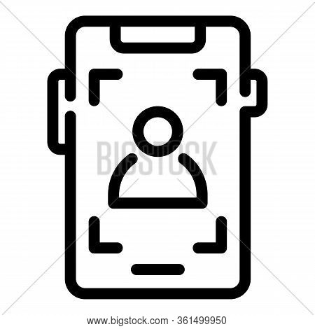 Phone Screen Recording Icon. Outline Phone Screen Recording Vector Icon For Web Design Isolated On W