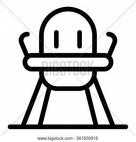 Newborn Feeding Chair Icon. Outline Newborn Feeding Chair Vector Icon For Web Design Isolated On Whi