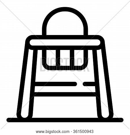 Wood Feeding Chair Icon. Outline Wood Feeding Chair Vector Icon For Web Design Isolated On White Bac
