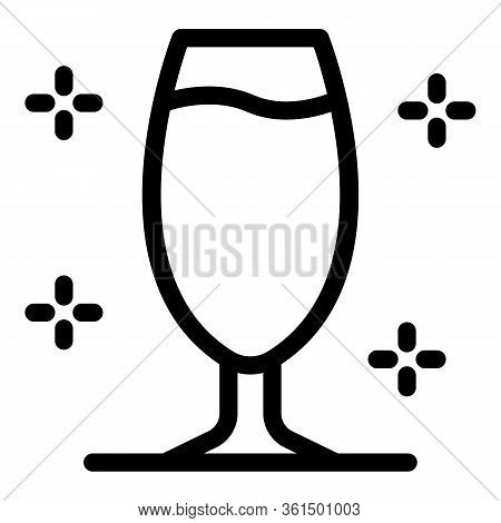 Coupe Champagne Icon. Outline Coupe Champagne Vector Icon For Web Design Isolated On White Backgroun