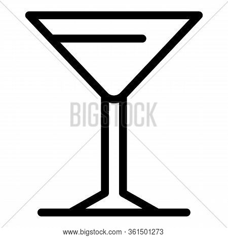 Martini Glass Icon. Outline Martini Glass Vector Icon For Web Design Isolated On White Background