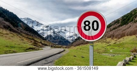 A Limit Speed At 80 Km/h On The French Roads