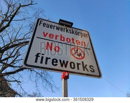 No Fireworks Sign, Photo