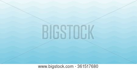 Blue Stripes Wave Or Wavy Pattern Background And Texture. Sea View Nature. Vector Illustration