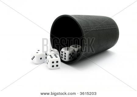 Dice With Cup