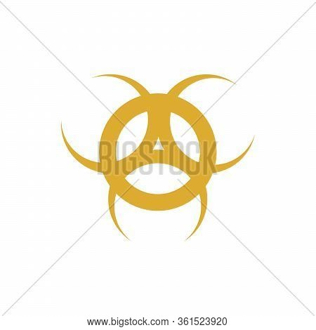 Illustration Bio Hazard Sign, Danger Symbol Warning Vector On White Background Eps10