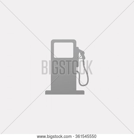 Petrol Station Vector Icon Isoalted In White Background. Gas Pump Icon