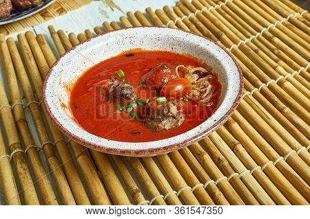 Kurdish Meatball  Potato Soup, Kurdish Food, Meatball Stew,