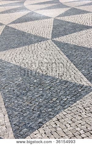 Portuguese pavement, Lisbon, Portugal