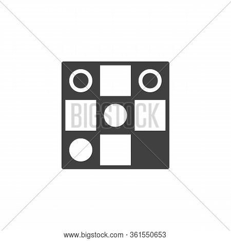 Checkers Board Game Line Icon. Linear Style Sign For Mobile Concept And Web Design. Checkerboard Wit