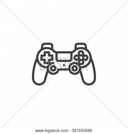 Game Controller Line Icon. Linear Style Sign For Mobile Concept And Web Design. Console Gamepad Cont