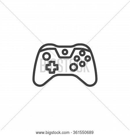 Gamepad Controller Line Icon. Linear Style Sign For Mobile Concept And Web Design. Console Game Cont