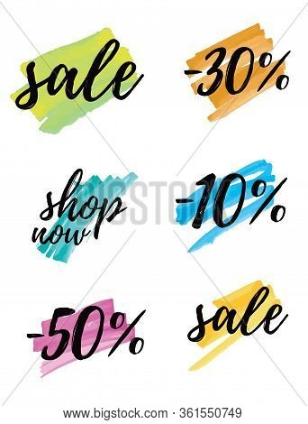 Sale. Simple Discount Sticker Set. 10% Off, 30% Off And 50% Off. Shop Now. Special Offer Tags. Black