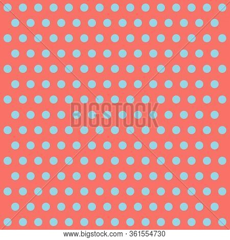 Easter Pattern Polka Dots. Template Background In Red And Blue Polka Dots. Seamless Fabric Texture.