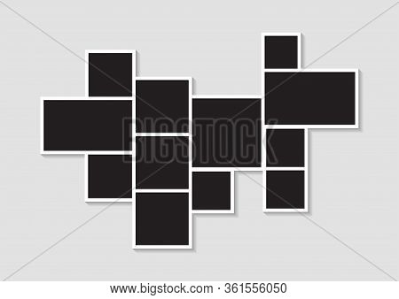 Templates Photo Collage Image Frames For Photo Or Picture Montage. Picture Montage Abstract. Vector