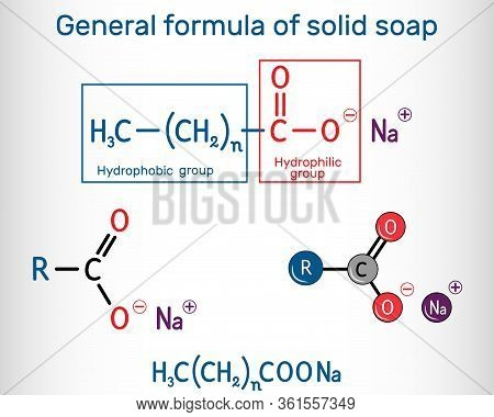 General Formula Of Solid Soap Molecule. Sodium Carboxylate, Rcoona. It Is The Sodium Salt Of Fatty A