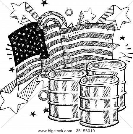 American oil dependence sketch