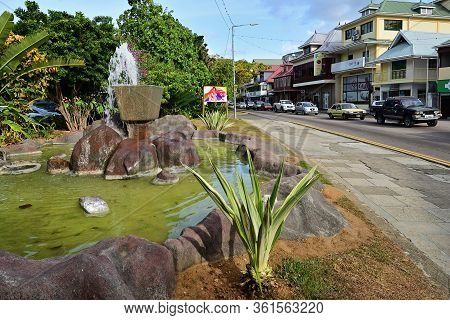 Victoria, Seychelles - July 7: Street Scene In Victoria. Victoria Is Smallest African Capital Was Bu