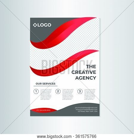 Red And Grey Corporate Flayer Template Design For Business, Creative Agency, Event, Workshop And Oth