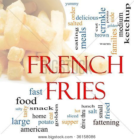 French Fries Word Cloud Concept With Fries Pictured