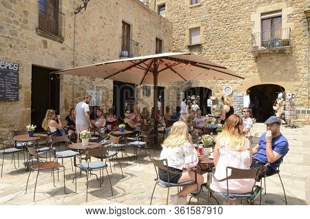 Outdoors Cafeteria In Medieval Village