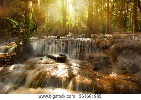 Pa Wai Waterfall Khirirat, Thailand. Southeast Asia