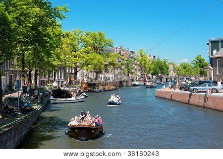 Prinsengracht Channel In Amsterdam