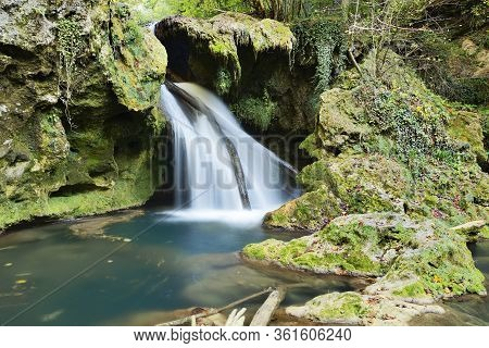 Closeup Of La Vaioaga Waterfall, Beusnita Nationak Park, Romania