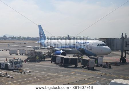 Mexico City - Jan. 18, 2020: Interjet Airlines A320 At Mexico City International Airport Mex, Mexico