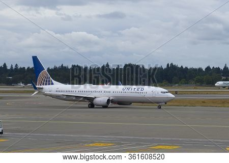 Seattle, Usa - Sep. 13, 2019: United Airlines Boeing B737-900er N67812 At Seattle Tacoma Internation