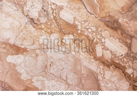 Gold Marbling Texture Design. Beige And Golden Marble Pattern. Fluid Art. Wall Texture With Cracks B