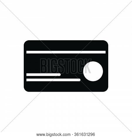 Black Solid Icon For Debit Card Money