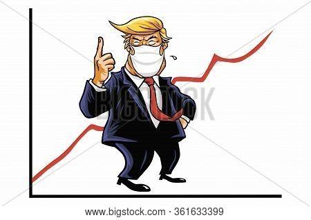 Donald Trump Presidential Approval Ratings Amid  Corona Virus Coronavirus Covid-19 Crisis. Trump Cam