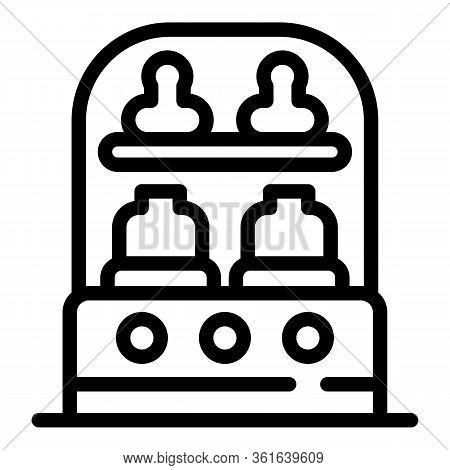 Sterilizing Bottle Machine Icon. Outline Sterilizing Bottle Machine Vector Icon For Web Design Isola