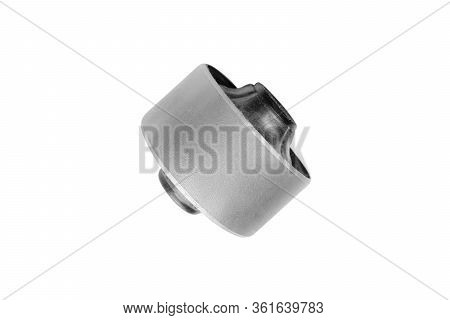 Set Hob Arm Of The Car Isolated On White Background With Clipping Path. Bush Stabilizer Auto. Car Su