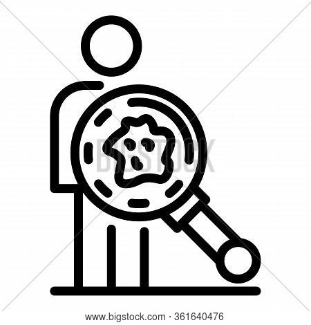 Body Diagnose Icon. Outline Body Diagnose Vector Icon For Web Design Isolated On White Background
