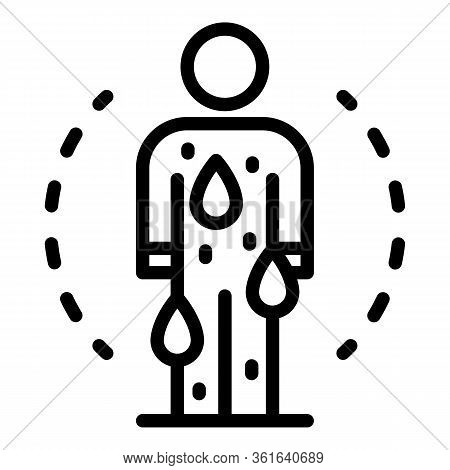 Sweat Body Icon. Outline Sweat Body Vector Icon For Web Design Isolated On White Background