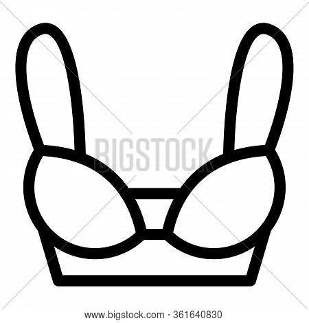 Bra Bustier Icon. Outline Bra Bustier Vector Icon For Web Design Isolated On White Background