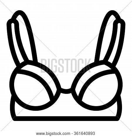 Sexy Bra Icon. Outline Sexy Bra Vector Icon For Web Design Isolated On White Background