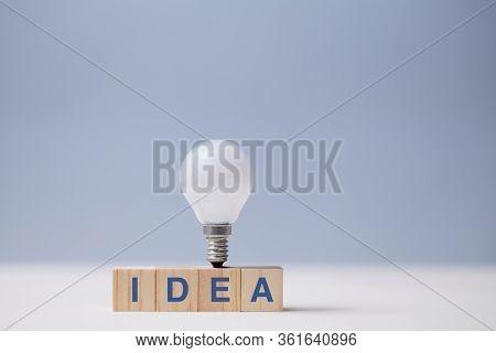 Creative Idea Generation. Creativity And Innovation. Originative Thinking. Wooden Cubes, Idea Inscri