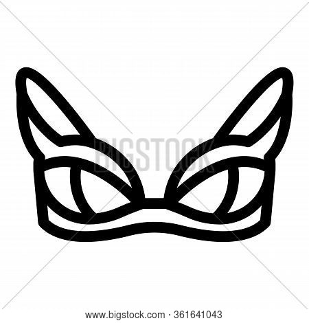 Beach Bra Icon. Outline Beach Bra Vector Icon For Web Design Isolated On White Background