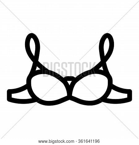 Fitness Bra Icon. Outline Fitness Bra Vector Icon For Web Design Isolated On White Background
