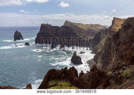 Beautiful Landscape At The Ponta De Sao Lourenco, The Eastern Part Of Madeira, Portugal