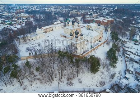 View Of The Holy Trinity Makaryevo-unzhensky Monastery On A January Day (aerial Photography). Makary
