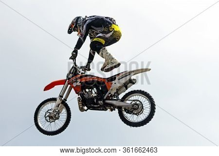 Pyatigorsk, Russia - May 02, 2014:motocross Is An Extreme Sport That Professional Motorcyclists Show