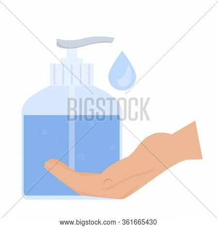 Hand And Liquid Soap Vector Isolated Illustration