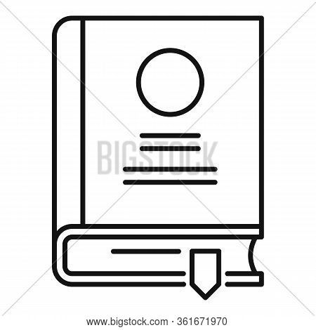 Lesson Book Icon. Outline Lesson Book Vector Icon For Web Design Isolated On White Background