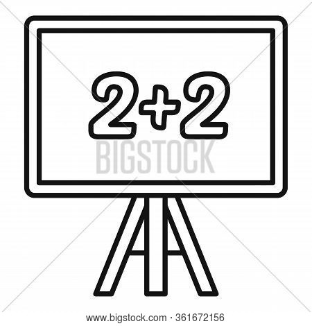 Lesson Board Icon. Outline Lesson Board Vector Icon For Web Design Isolated On White Background